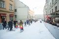 Ski slope on World Snow Day