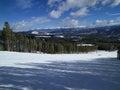 Ski slopes Royalty Free Stock Photo