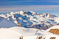 Ski slopes in French Alps Royalty Free Stock Photo