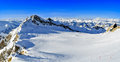 Ski slopes on the kitzsteinhorn glacier austria Stock Photos