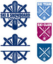 Ski and Snowboard Team Graphics Royalty Free Stock Photos