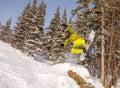 Ski; snowboarding; snowboard; sports; work; fun; male; smiling; Royalty Free Stock Photo