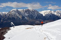 Ski touring in baiului mountains romania Stock Image