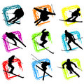 Ski vector Stock Images