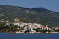 Skiathos greece view from the ferry Stock Images