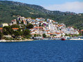 Skiathos greek island at vories sporades view of the island Royalty Free Stock Photos