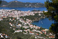 Skiathos island in greece capital city and port of Royalty Free Stock Photography