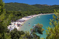 Skiathos island in greece koukounaries beach at Royalty Free Stock Photography