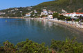 Skiathos island in greece megali ammos beach at Royalty Free Stock Photos