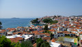 Skiathos island greece roofs on sporades islands Stock Photography