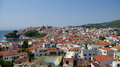Skiathos island greece roofs on sporades islands Stock Photos