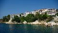 Skiathos island greece town sporades islands Royalty Free Stock Photo