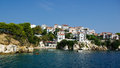 Skiathos island greece town sporades islands Royalty Free Stock Photography
