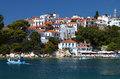 Skiathos island in greece view of plakes area Royalty Free Stock Photos