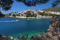 Skiathos island in greece view of plakes area Royalty Free Stock Images