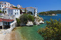 Skiathos island in greece view of plakes area Royalty Free Stock Photo