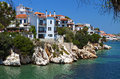 Skiathos island in greece view of plakes area Royalty Free Stock Photography