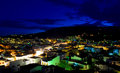 Skiathos island at night lights of town greece Royalty Free Stock Photos