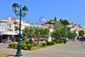 Skiathos town greece old port at Stock Photos