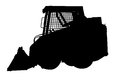 Skid loader silhouette Royalty Free Stock Photo