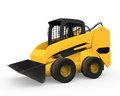 Skid steer loader isolated on white background d render Stock Photography