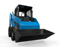 Skid steer loader on white background d render Royalty Free Stock Photo