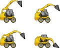 Skid steer loaders. Heavy construction machines. Royalty Free Stock Photo