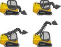 Skid steer loaders. Heavy construction machines Royalty Free Stock Photo