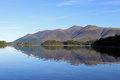 Skiddaw reflection in Derwentwater, Lake District Stock Photo
