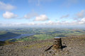 Skiddaw Summit Royalty Free Stock Image