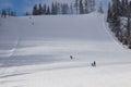 Skiers On Ski Slope.