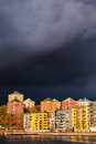 Skies darken when bad autumn weather approaches the swedish capital of stockholm sweden october sweden on october Royalty Free Stock Images