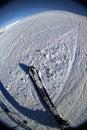 Skifahrentätigkeit 2., die Stockbild