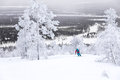 Skiing above the Arctic Circle Royalty Free Stock Photo