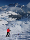 Skiing in the European Alps Stock Images