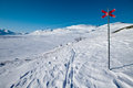 Skiing track on the Kungsleden Royalty Free Stock Images