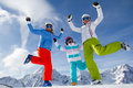 Skiing, winter fun Royalty Free Stock Photography