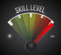 Skill level level illustration design graphic