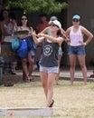 Skillet toss event th annual hawaiian scottish festival highland games iv location ala moana beach park honolulu island of o ahu Royalty Free Stock Photos