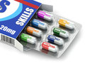 Skills for success box of pills with a list of positive qualiti qualities employment d Royalty Free Stock Photography
