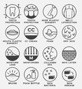 Skin icon vector set / lotion and body