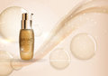 Skin Toner Bottle Template for Ads or Magazine Background. 3D Re