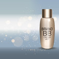 Skin Toner Bottle Template for Ads or Magazine Background. 3D Re