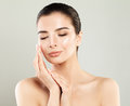 Skincare Concept. Spa Woman with Fresh Skin