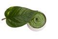 Skincare green homemade natural balm Stock Photography