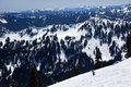 Sking Snow Ridges Crystal Mountain Royalty Free Stock Photo