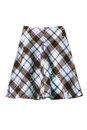 Skirt wool plaid midi isolated over white Royalty Free Stock Image