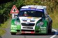 Skoda Fabia S2000 at Barum rally Royalty Free Stock Photo