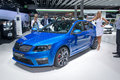 Skoda octavia rs frankfurt international motor show iaa Royalty Free Stock Photos