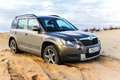 Skoda yeti novyy urengoy russia september motor car at the countryside Royalty Free Stock Photography